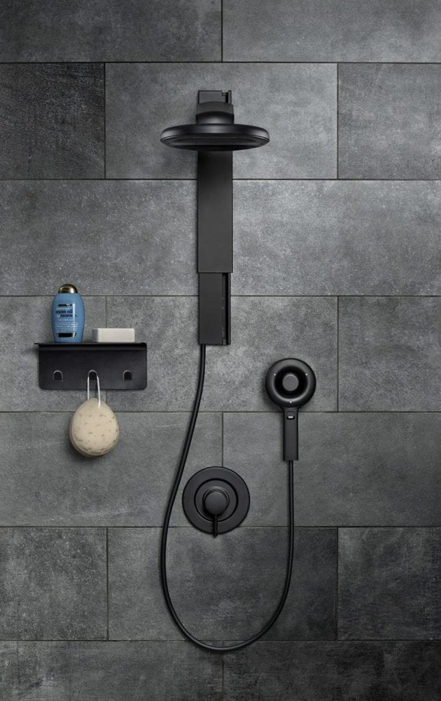 nebia spa shower and shelf